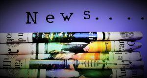 newspaper, hand, finger